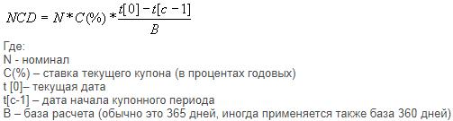 Формула расчёта НКД в процентах