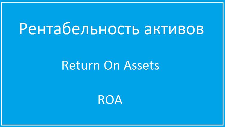 Что такое рентабельность активов