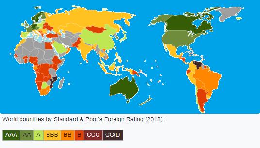Кредитные рейтинги стран