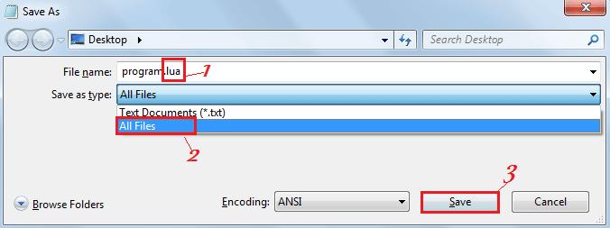 Сохранение файла lua