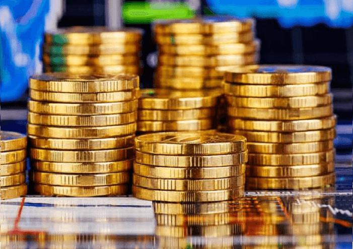 Столбики из монет
